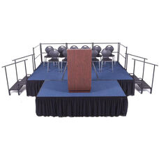 Fixed Height Complete Package Stage and Seated Riser with Carpeted Deck and Built - In Coupling System - 96