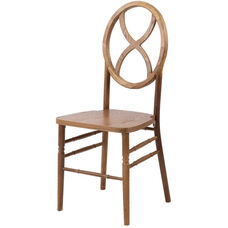 Veronique Series Stackable Sand Glass Wood Dining Chair - Antique fruitwood