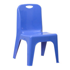 Plastic Stackable School Chair with Carrying Handle and 11'' Seat Height