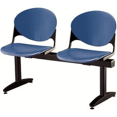 2000 Series Beam Seating with 2 Polypropylene Seats