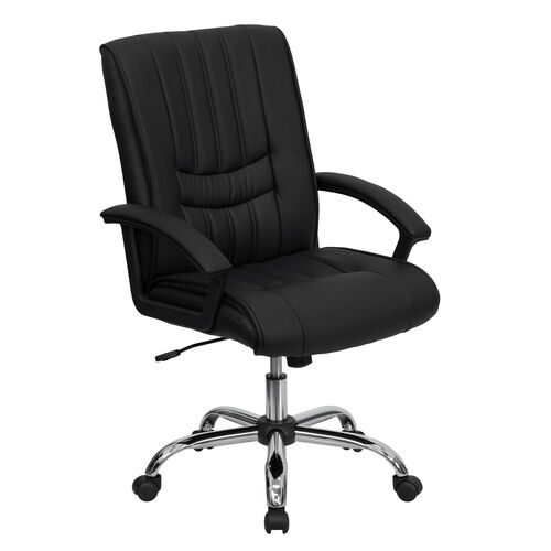 Mid-Back Leather Swivel Manager