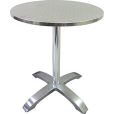 Stainless Steel Round Table Top with Aluminum Base