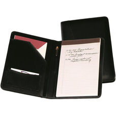 Junior Writing Padfolio - Top Grain Nappa Leather - Black