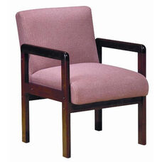 5900 Lounge Chair w/ Wood Frame, Upholstered Spring Back & Seat - Grade 1