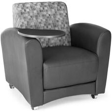 InterPlay Nickel and Black Tablet Chair - Tungsten Finish