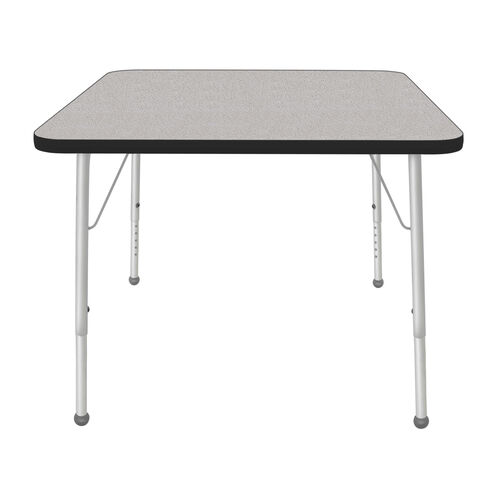 Our Adjustable Standard Height Laminate Top Square Activity Table - Nebula Top with Black Edge and Legs - 36