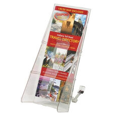 Deflecto Lit. Rack -1 Leaflet Size Pocket -4 9/16