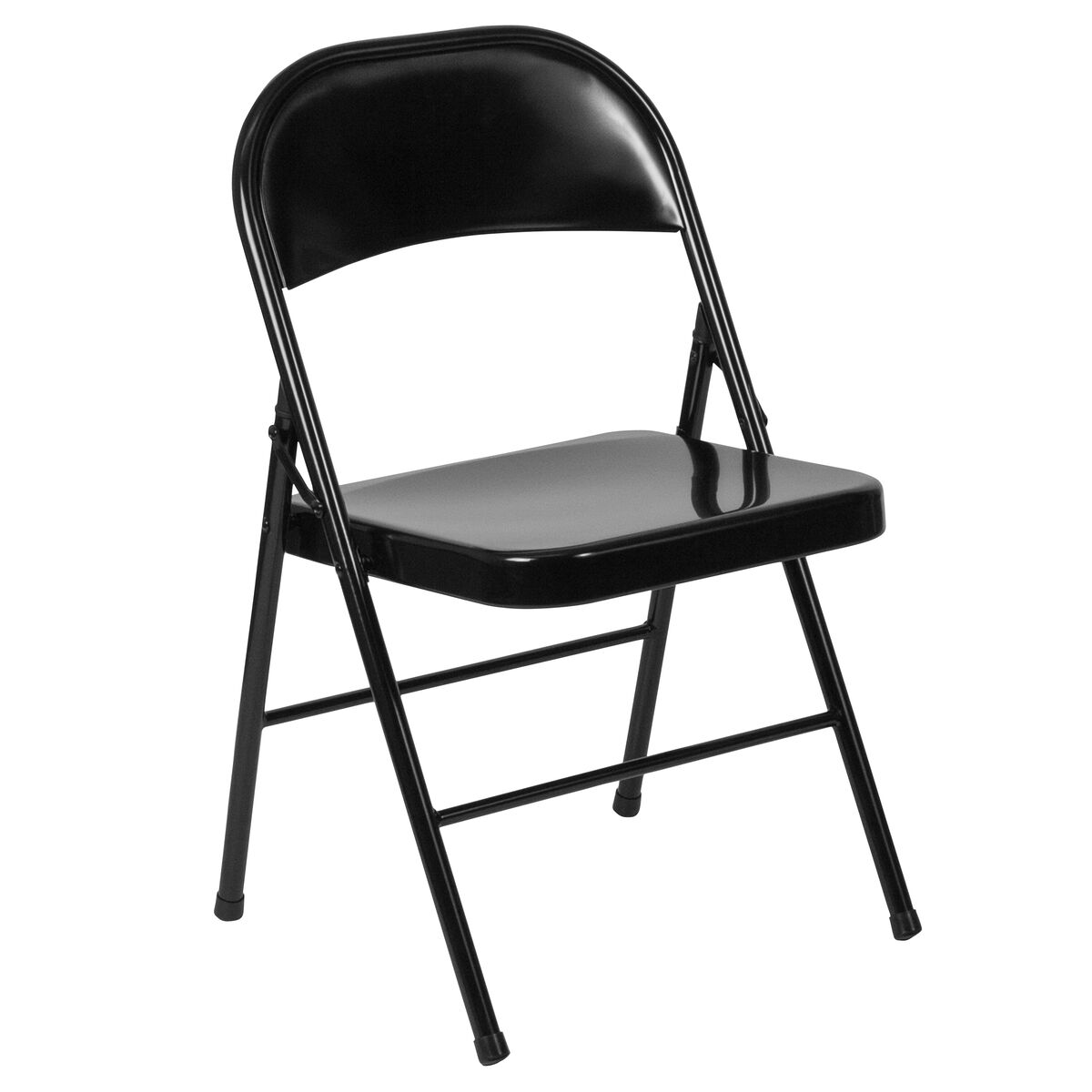 Strange Hercules Series Double Braced Black Metal Folding Chair Caraccident5 Cool Chair Designs And Ideas Caraccident5Info