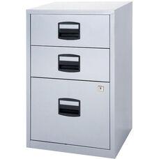 Bisley All Steel Three Drawer Locking Filing Cabinet - Black