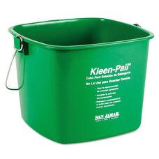 San Jamar® Kleen-Pail - 6qt - Plastic - Green - 12/Carton