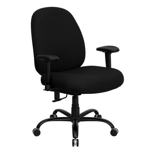 HERCULES Series Big & Tall 400 lb. Rated Black Fabric Executive Ergonomic Office Chair with Adjustable Back and Arms