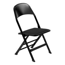 2000 Series Fabric Upholstered Seat and Steel Back Panel Folding Chair with 14.25