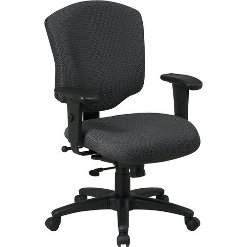Our Work Smart Mid Back Upholstered Fabric Executive Chair with Adjustable Seat Height and Arms is on sale now.
