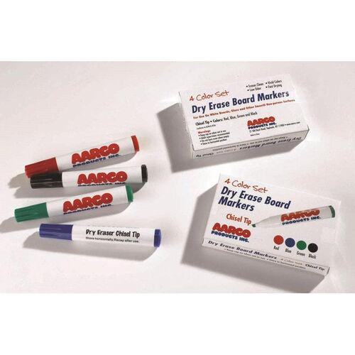 Dry Erase Reduced Odor Markers - Set of 4