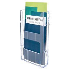 Lit Loc Interlocking Display Leaflet Holder - Set of 12 - Clear