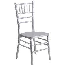 "HERCULES Series Silver Wood Chiavari Chair with <span style=""color:#0000CD;"">Free </span> Cushion"