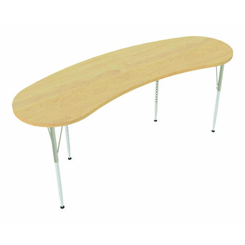 1000 Series Curved Adjustable Height Maple Top Activity Table - 26