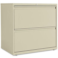 Alera® Two-Drawer Lateral File Cabinet - 30w x 19-1/4d x 28-3/8h - Putty