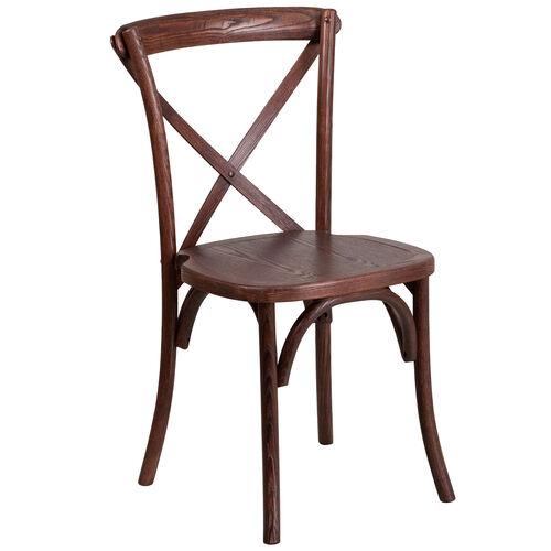 HERCULES Series Stackable Wood Cross Back Chair