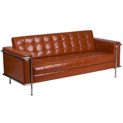 Our HERCULES Lesley Series Contemporary Cognac Leather Sofa with Encasing Frame is on sale now.