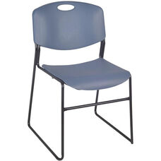 Zeng 31''H Armless Stackable Metal Frame Chair - Set of 50 - Blue