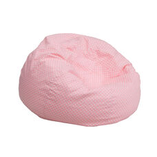 Small Light Pink Dot Kids Bean Bag Chair