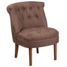 HERCULES Kenley Series Brown Fabric Tufted Chair