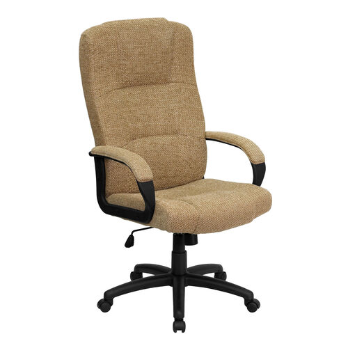 Our High Back Beige Fabric Executive Swivel Office Chair with Arms is on sale now.
