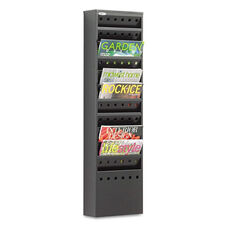 Safco® Steel Magazine Rack - 11 Compartments - 10w x 4d x 36-1/4h - Black