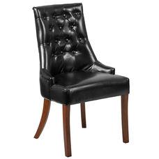 HERCULES Paddington Series Black LeatherSoft Tufted Chair