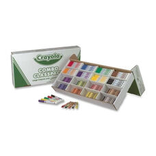 Crayola Crayons/Marker Combo -Washable -128 Crayons -128 Markers -Asst.