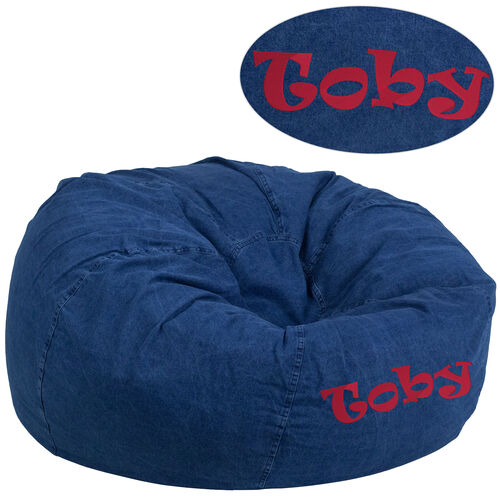 Our Personalized Oversized Denim Kids Bean Bag Chair is on sale now.