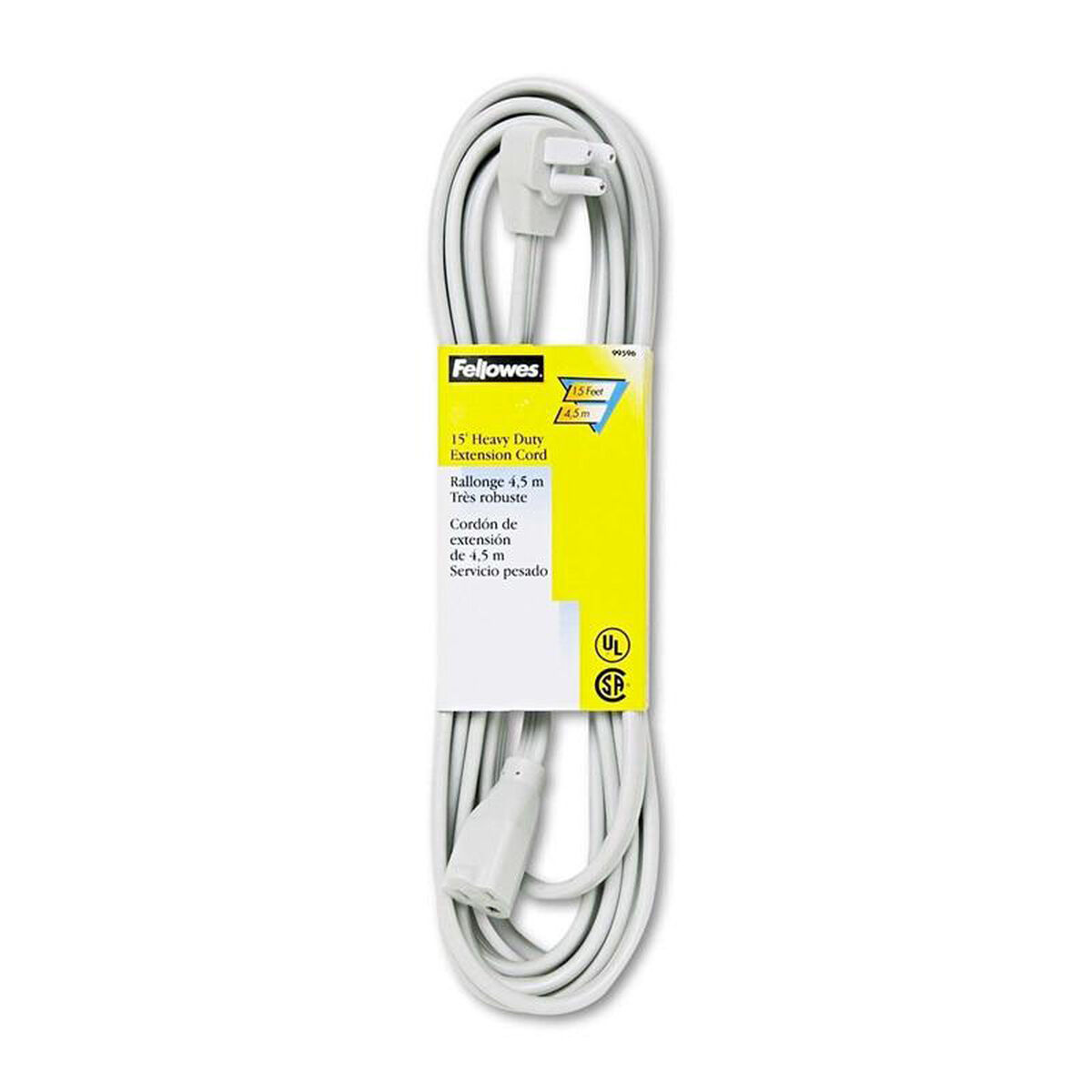 Fellowes fellowes indoor heavy duty extension cord 3 for Furniture 4 less outlet