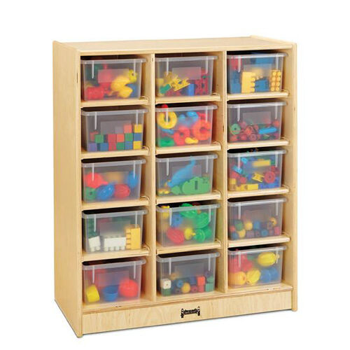 Our 15 Cubbie-Tray Mobile Unit with Clear Trays is on sale now.