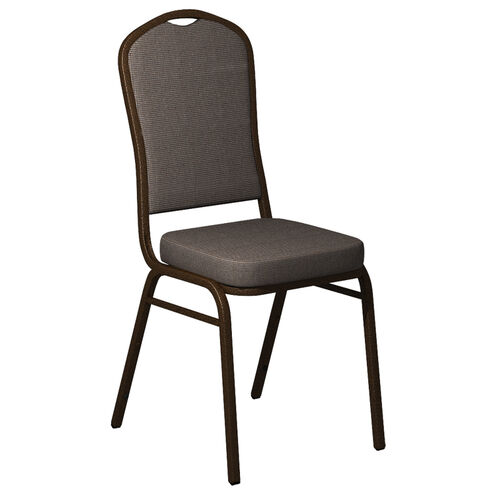 Embroidered Crown Back Banquet Chair in Shire Horizon Fabric - Gold Vein Frame