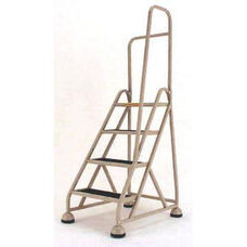 Stop Step 4 Step Ladder with Right Handrail - Beige
