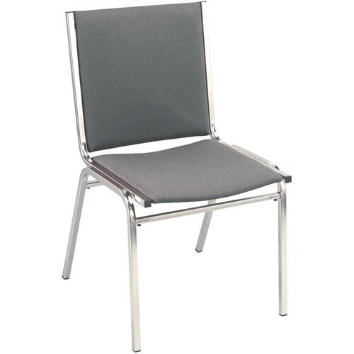 Our 400 Series Stacking Square Steel Frame Armless Guest Chair with Full Back and 1
