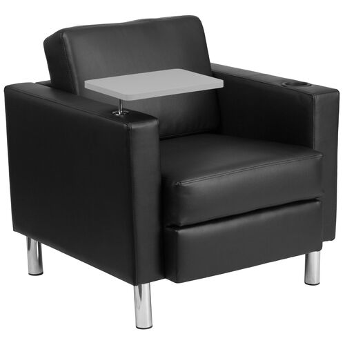 Our Guest Chair with Tablet Arm, Tall Chrome Legs and Cup Holder is on sale now.