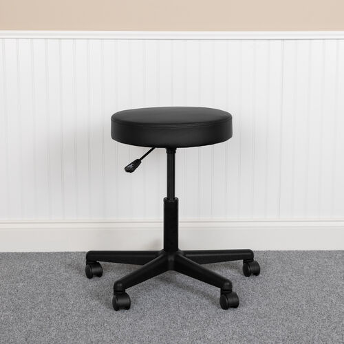 Our HERCULES Series Black Backless Medical Doctor Stool with Antimicrobial / Antibacterial Vinyl, Molded Foam Seat and Nylon Base is on sale now.
