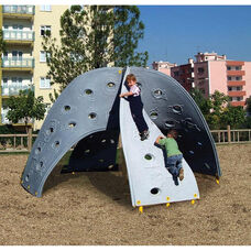Aztec Play Climber with Four Weather and Fade Resistant Polyethylene Twisting Climbing Walls - 150