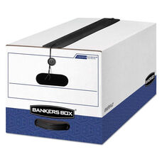 Bankers Box® LIBERTY Plus Storage Box - Letter - String/Button - White/Blue - 12/Carton