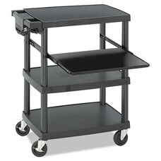 Safco® Multimedia Projector Cart - Four-Shelf - 27-3/4w x 18-3/4 x 34-3/4 - Black