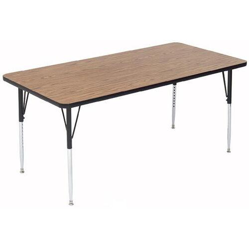 Adjustable Height Rectangular Laminate Top Activity Table - 36
