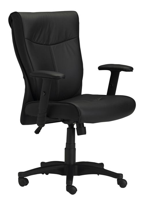 Our Mercado Adjustable Height Leather Arm Chair with Adjustable Arms - Black is on sale now.