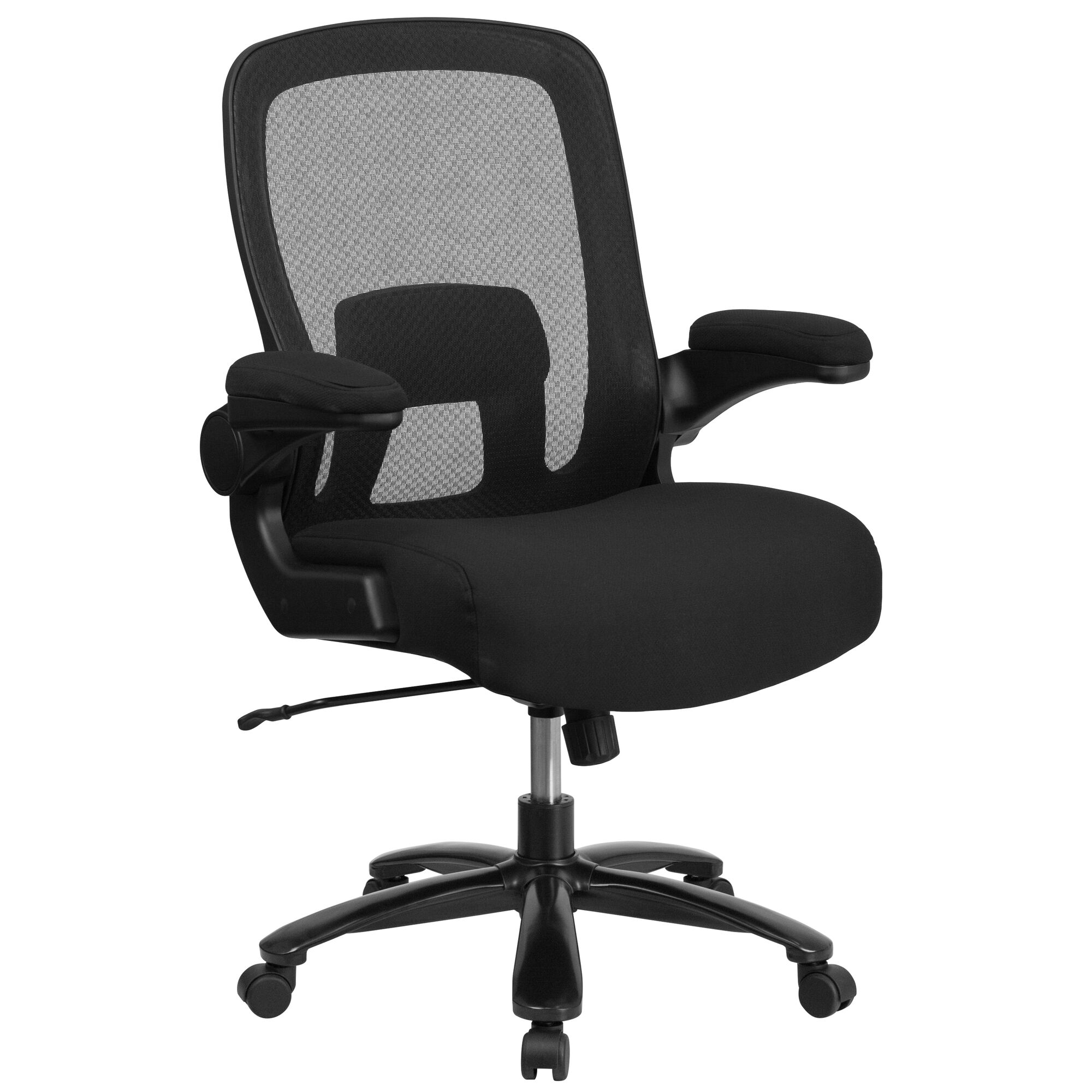 Superb Big Tall Office Chair Black Mesh Executive Swivel Office Chair With Lumbar And Back Support And Wheels Download Free Architecture Designs Viewormadebymaigaardcom
