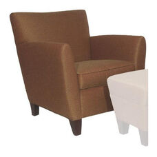 5071 Lounge Chair w/ Loose Cushion & Wood Feet - Grade 1