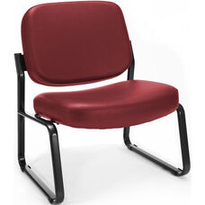 Big & Tall Guest and Reception Vinyl Chair - Wine