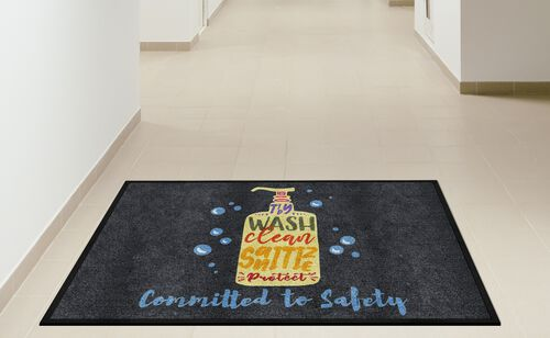 """""""Committed to Safety"""" Message Floor Mat - 35"""