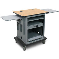 Vizion Instructor Cart Series Height Adjustable Silver Level All-in-One Teacher