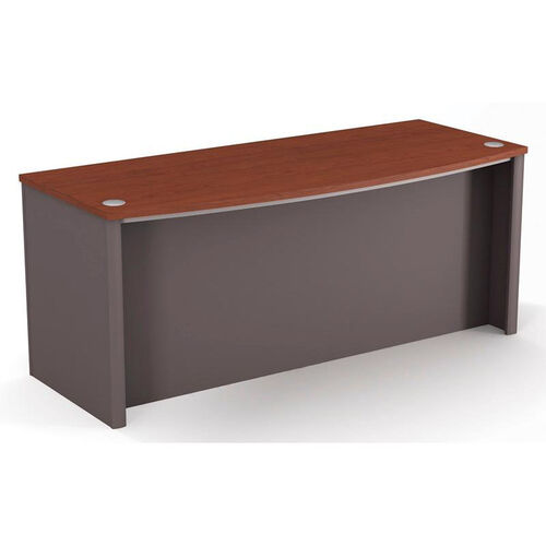 Connexion Executive Desk with Wire Management and Modesty Panel - Bordeaux and Slate